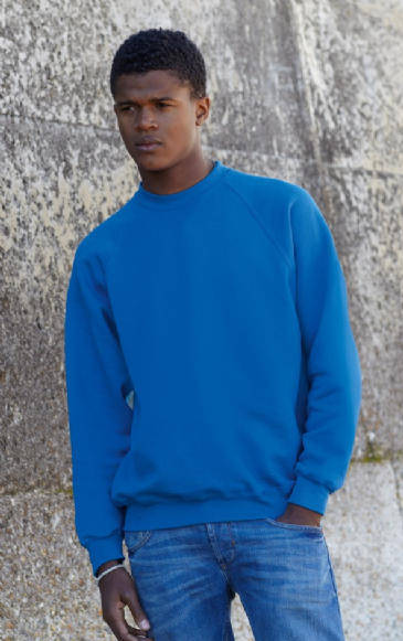 Fruit Of The Loom Raglan Sleeve Sweatshirt SS8